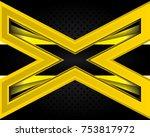 vector of abstract metallic...   Shutterstock .eps vector #753817972
