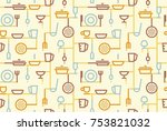 seamless background of cookery  ... | Shutterstock .eps vector #753821032