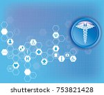abstract medical background... | Shutterstock .eps vector #753821428