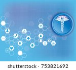 abstract medical background... | Shutterstock .eps vector #753821692