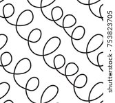 loop abstract vector pattern | Shutterstock .eps vector #753823705