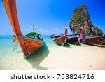 rairay beach  krabi thailand | Shutterstock . vector #753824716