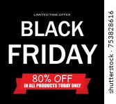 black friday sale | Shutterstock .eps vector #753828616