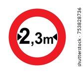 a dutch prohibition sign  ... | Shutterstock .eps vector #753828736