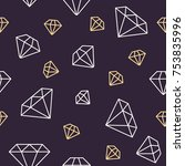 jewelry seamless pattern ... | Shutterstock .eps vector #753835996