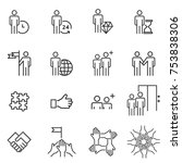 people icons line work group... | Shutterstock .eps vector #753838306
