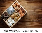 wooden box filled with... | Shutterstock . vector #753840376