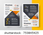 business flyer brochure design... | Shutterstock .eps vector #753845425