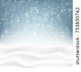 snowy winter background | Shutterstock .eps vector #753850762
