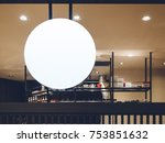 signboard shop mock up circle... | Shutterstock . vector #753851632