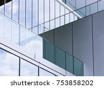 architecture detail glass wall... | Shutterstock . vector #753858202