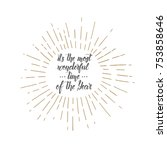 vector trendy christmas hand... | Shutterstock .eps vector #753858646
