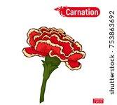 vector image. a flower of a... | Shutterstock .eps vector #753863692