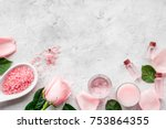 natural organic cosmetics with... | Shutterstock . vector #753864355