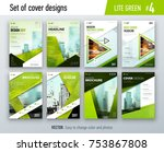 set of business cover design... | Shutterstock .eps vector #753867808