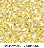 golden triangle backgound for... | Shutterstock .eps vector #753867832