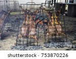 lamb on the spit   Shutterstock . vector #753870226