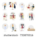 woman entertainment set.... | Shutterstock .eps vector #753870316