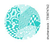 circle illustration with... | Shutterstock .eps vector #753874762