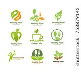 organic food  farm fresh and... | Shutterstock .eps vector #753879142