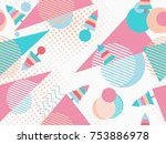 christmas seamless pattern... | Shutterstock .eps vector #753886978