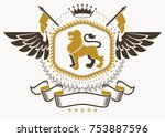 heraldic coat of arms made in... | Shutterstock .eps vector #753887596