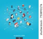 business integrated 3d web... | Shutterstock .eps vector #753893176