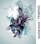text grunge vector illustration | Shutterstock .eps vector #75389341