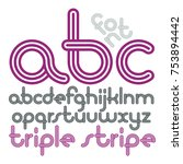 vector lowercase funky disco... | Shutterstock .eps vector #753894442