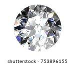 diamond on white background ... | Shutterstock . vector #753896155