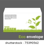 ecology envelope template | Shutterstock .eps vector #75390562