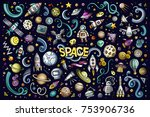 colorful vector hand drawn... | Shutterstock .eps vector #753906736