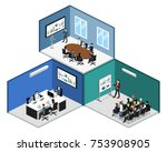isometric 3d illustration set... | Shutterstock .eps vector #753908905