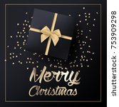 merry christmas greeting card | Shutterstock .eps vector #753909298