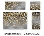 set christmas glossy banners... | Shutterstock .eps vector #753909622