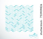 flowing stripes  vector... | Shutterstock .eps vector #753909826