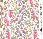 seamless pattern with marine...   Shutterstock .eps vector #753911092