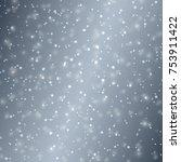 vector snow background....   Shutterstock .eps vector #753911422