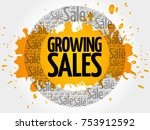 growing sales words cloud ... | Shutterstock . vector #753912592