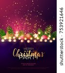 festive christmas and new year... | Shutterstock .eps vector #753921646