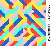 abstract 1980 memphis geometric ...   Shutterstock .eps vector #753924016