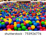 colored plastic balls in pool... | Shutterstock . vector #753926776