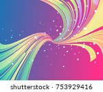 abstract multicolored template... | Shutterstock . vector #753929416