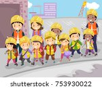 illustration of stickman kids... | Shutterstock .eps vector #753930022
