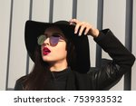 closeup shot of fashionable... | Shutterstock . vector #753933532