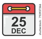 calendar with 25th december