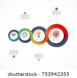 timeline infographics. business ... | Shutterstock .eps vector #753942355