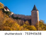 royal castle karlstein in czech ...   Shutterstock . vector #753945658