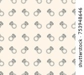 seamless pattern with rings for ... | Shutterstock . vector #753948646