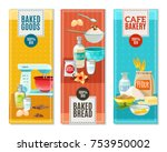 colorful flat vertical banners... | Shutterstock . vector #753950002